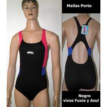 Malla Enteriza Porto Hidrofugo Anticloro Natación Pileta