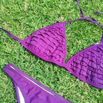 Bikini Triangulito Con Volados!!