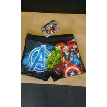 Malla Short De Baño Niño Super Heroes Avengers Vengadores