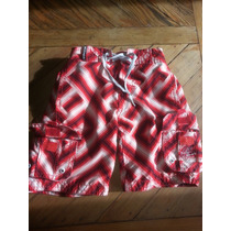Short Traje Baño Malla Bermuda Nene T4 Kevingt C/forro 3 Bol