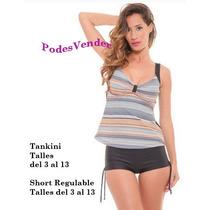 Malla Tankini Con Short Talles Grandes Y Especiales
