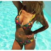 Bikini De Diseño Con Volados En Bretel Modelo Ananas