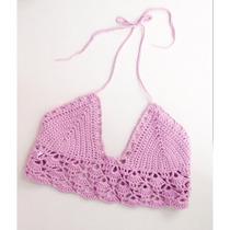 Crop Tops Corpiños Tejidos Al Crochet