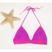 Top Bikini Tejido Al Crochet