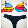 Bikini Malla 2015 Rayas Colores Colección Verano