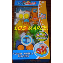 Baby Wheels Yummy Wheels Buddies Autitos Soft Goma Para Bebe