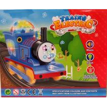 Tren Thomas Grande 18cm Sonido Luces Giratorias Brilla Mirá