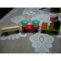 Antiguo Tren Plastico Duro Década Del 60