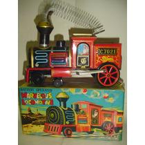 Juguete Antiguo Locomotora De Chapa Litografiada