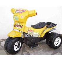 Moto Triciclo Grande Reforzado Auto A Bateria 12v Niños