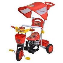 Triciclo Cars O Princesas Disney Toldo Barra Seguridad Techo