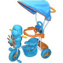 Triciclo Infantil De Bebe Direccional Y Toldo