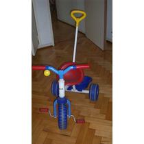 Triciclo Rondi C/barra De Paseo Y Canasto