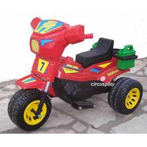 Moto Triciclo Dakar Cuatriciclo Auto A Bateria Niños Oferta
