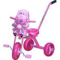 Triciclo Infantil Bebe Barra De Empuje Industria Nacional