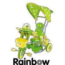 Triciclo Rainbow Mod790 Con Manija Direccional Y Capota