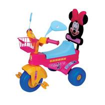 Triciclo Minnie Disney Con Respaldo Y Canasta