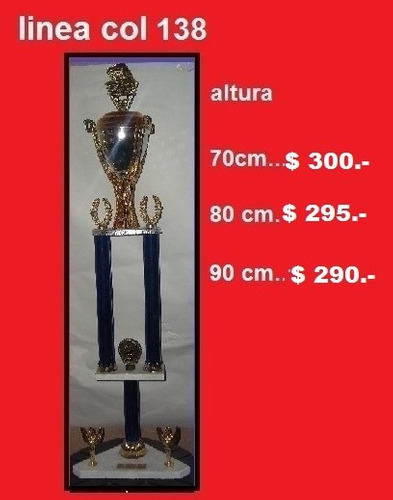 Trofeos-alt. 33cm A 60cm,souvenirs,medallas,cumples,comunion