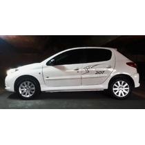 Calcos Laterales Peugeot 208 207 El Par La Mejor Calidad