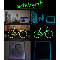 Pintura Luminiscente Ilumina Brilla Oscuridad Glow Fluo 60cc
