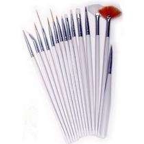 Pack 15 Pinceles Para Decoracion Uñas Nail Art Local Flores