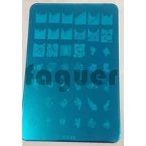 Placa De Stamping Grande Para Deco De Uñas Nail Art. Faguer