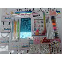Kit Decoración Uñas Dotting Cintas Glitters Art Nail P11
