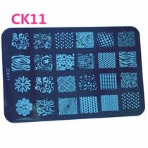 Placa Stamping Nail Art Uña Completa 42 Diseños Vs Modelos