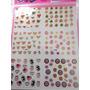 Plancha 6 Stickers Decoracion Uñas Nail Ydnis Maquillaje