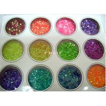 Kit 12 Deco Uñas Gibre Escamas Maquillaje Artistico Ydnis