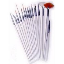 Pack15 Pinceles Para Decoración De Uñas Art Nail