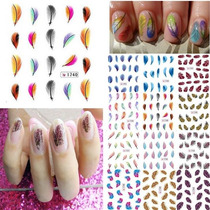Stickers Uñas Decal Tatoo Al Agua.nail Art /esculpidas/tips!