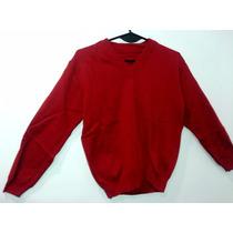 Sweter Pullover Colegial Escote En V