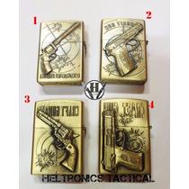 Encendedor A Bencina Dorado Pistola Revolver Varios Modelos!