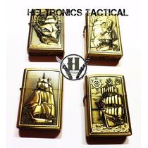 Encendedor A Bencina Dorado Barcos Varios Modelos!