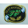 Escudo Bordado Original Islas Malvinas Con Laurel Color