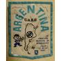 Antiguo Parche Confederacion Argentina De Basquetbol 1974