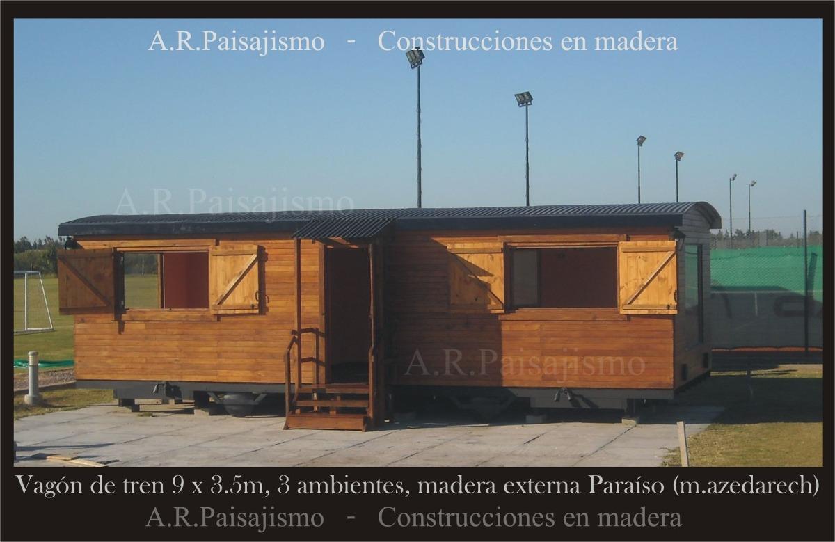 Vagon de madera caba as tren o galpon construccion replica - Como hacer cobertizo de madera ...