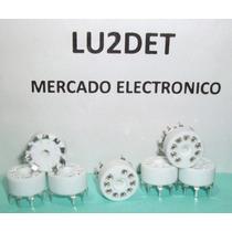 Zocalos Porcelana 9 Pin P / Impreso P C B 12ax7 Ef86 6bq5
