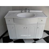 Vanitory 1mtr. Mueble De Baño Laqueado Blanco + Bacha