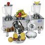 Licuadora Industrial 2 Vasos + Granizador Y Exprimidor Anion