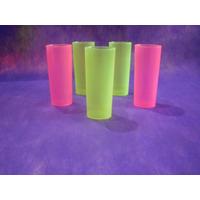 Vaso Trago Largo Plastico Flexible Irrompibles Colores