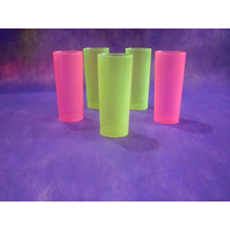 Vaso Trago Largo Plastico Flexible Irrompibles Colores