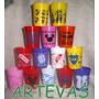 Vasos Personajes Infantiles De Plastico Flex 300 Cc X 10 U