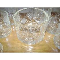 Vasos Whisky Cristal Tallado Con Hielera