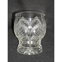 Juego De 6 Antigüos Vasos De Whisky Tallados