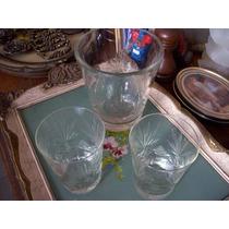 Antigua Hielera Con 2 Vasos De Wisky