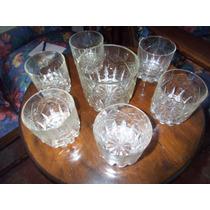 Muy Bonitos Y Antiguos Vasos De Wisky Cristalcuyo C/hielera
