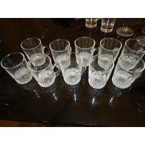 Vasos De Cristal Para Licor - Tipo Chopp Tallados A Mano