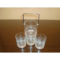 Vasos De Whisky Con Hielera De Cristal